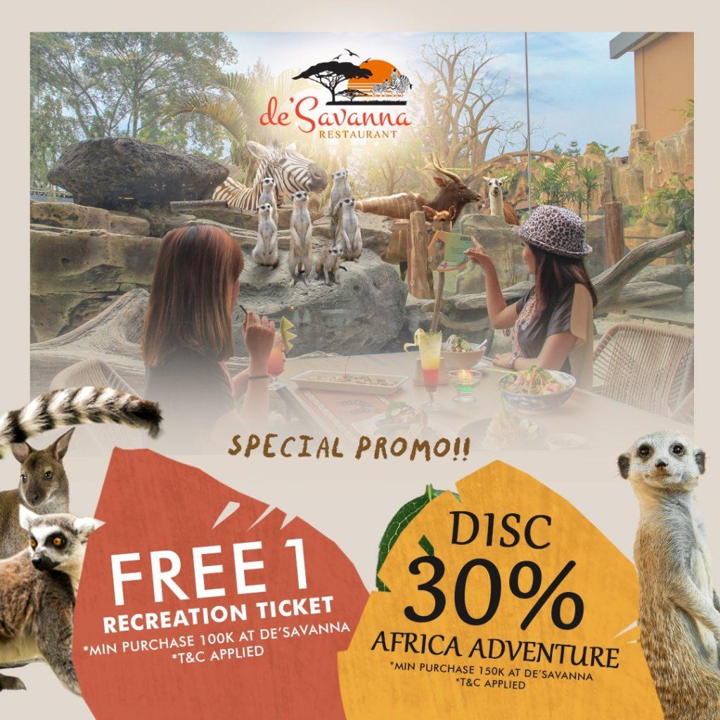 Promotions Royal Safari Garden